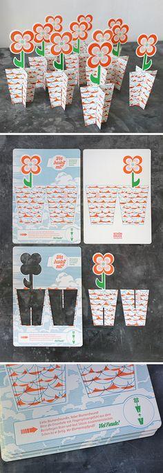 Bastelbogen und Blumengruß, gedruckt im Letterpress auf einem Original Heidelberger Tiegel in Wien. Plus Stanze und Farbschnitt. Letterpress, Holiday Decor, Unique Business Cards, Business Card Design, Concept, Invitations, Wallpaper Backgrounds, Crafting, Ideas