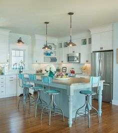 20 Amazing Beach Inspired Kitchen Designs | Pinterest | Peaceful Places,  Kitchen Design And Coastal