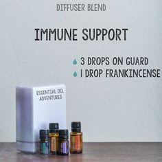 doTERRA Immune Support Diffuser Blend • 3 drops On Guard • 1 drop Frankincense www.mydoterra.com/essentialoiladventures