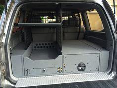 SUV storage system It's beautiful! Jeep Jk, Jeep Truck, Fj Cruiser, Toyota Land Cruiser, Truck Bed Storage, Vehicle Storage, Land Rover Discovery, Jeep Mods, Truck Mods