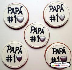 Día del Padre | Shugar Deli en CDMX Cookie Cake Decorations, Cookie Decorating, Cupcake Cookies, Sugar Cookies, Ideas Desayunos, Personalized Cookies, Fathers Day Cake, Daddy Day, Sweet Cooking