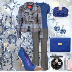 """""""Working Blue"""" by jgrafton on Polyvore"""