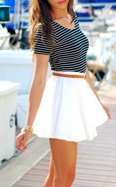 Tendencias, belleza y moda: 16 looks con estilo de falda blanca que te encantarán