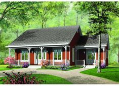 Cottage Style House Plans, House Plans One Story, Ranch House Plans, Cottage House Plans, Bedroom House Plans, Country House Plans, Small House Plans, House Floor Plans, Story House