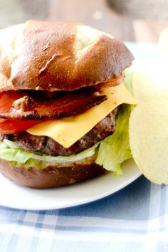 Grilled Burgers with Applewood Smoked Bacon