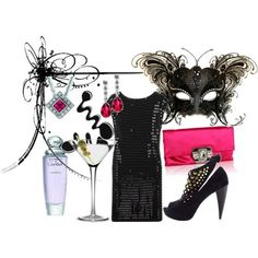 absolute perfect outfit for a masquerade bachelorette party