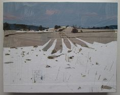 The Warming Original Winter Collage Painting on by Paintbox