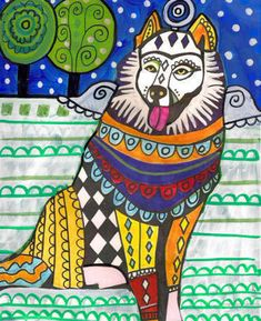 11x14 Samoyed Art Gift PRINT Dog Poster by HeatherGallerArt, $24.00