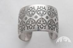 Mittelalter Armband mit geätzem Muster