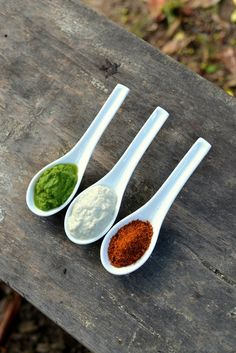 Indian Food | Tricolor Trio: Three Classic Indian Chutneys
