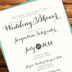 Quirky #Wedding Shower #Invitation