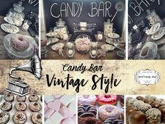 """Candy Bar """"Vintage Style"""" by Hard Candy Shop Vintage Style, Vintage Fashion, Shops, Candy Shop, Hard Candy, Bar, Table, Wels, Tents"""