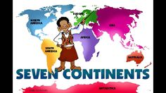 Letter Aa: The Continents Song--- Asia, Africa, North & South America, Antarctica, Australia and Europe too