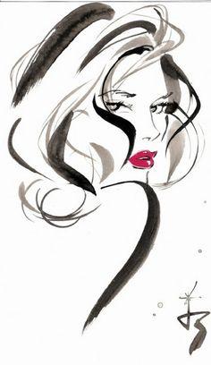 Jacqueline Bissett Illustration