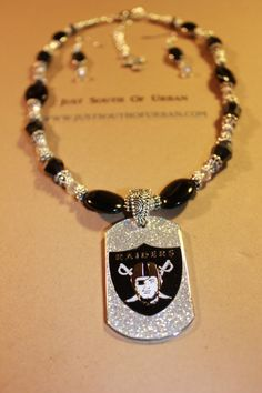 Raiders Jewelry Oakland Raiders Necklace and by JustSouthOfUrban, $30.00