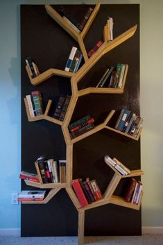DIY Bookshelf Ideas - Tree Bookshelf DIY - DYI Bookshelves and Projects - Easy and Cheap Home Decor Idea for Bedroom, Living Room - Step by Step tutorial Tree Bookshelf, Bookshelf Design, Bookshelf Ideas, Simple Bookshelf, Bookshelf Decorating, Book Shelves, Nursery Bookshelf, Bookshelf Plans, Bookshelf Speakers