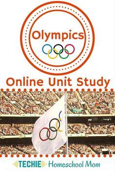 """Learn about the Olympics with the Olympics Online Unit Study. With this online course, your family will discover the history of the Olympics, study Olympic traditions, and """"meet"""" inspirational Olympics. You'll learn what it takes to be an Olympian, watch your favorite events in current Olympics and keep track of winners. This homeschool curriculum integrates multiple subjects. Students access websites and videos and complete hands-on and digital projects. With Online Unit Studies'…"""