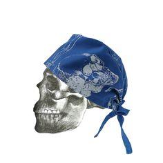 """""""Bones"""" hand printed theatre cap"""