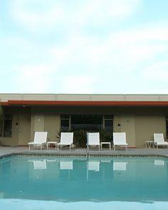 Swimming Pool Art Mid Century Hotel Vacation
