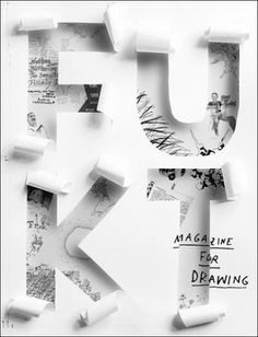 Fukt (Germany): A magazine for contemporary drawing, published once a year since 2000 with a selection of contemporary artists that work within the medium of drawing. Art direction and design: Ariane Spanier, editor: Bjorn Hegardt Book Cover Design, Book Design, Design Art, Print Design, Web Design, Flyer Design, Graphic Design Magazine, Magazine Cover Design, Magazine Covers