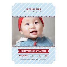 Photo Birth Announcements   Baseball Theme Invitation Card