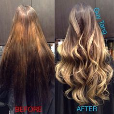 Ombre make-over #ombrehair #hairstyle #makeover