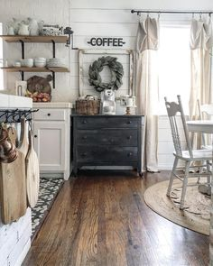 farmhouse coffee bar | the_rusticpallet