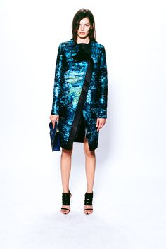 This is pretty much what I love Proenza Schouler for—grungy-luminescent prints. #proenzaschouler