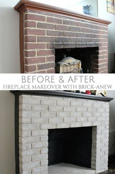 Fireplace Makeover with Brick-Anew Paint @anew0017