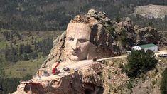 "Monument Of Native American Hero ""Crazy Horse"" Slowly Taking Shape In South Dakota – PolyTrendy Native American Legends, Native American Warrior, American Indians, Battle Of Little Bighorn, Crazy Horse Memorial, Taking Shape, Garden Architecture, Horse Sculpture, South Dakota"