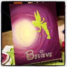 Tinkerbell Canvas Painting. Believe!