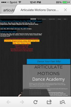 Articulate Motions Dance Academy...getting ready for year two!!! Check out all the updates to our website: www.articulatemotions.com