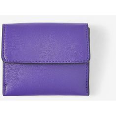 Express Fold-Over Card Holder ($17) ❤ liked on Polyvore featuring bags, wallets, purple, purple bags, snap closure wallet, foldover bags, slim card case wallet and credit card holder wallet
