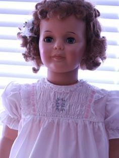 White Baby Doll Smocked Dress for Patti Playpal Doll