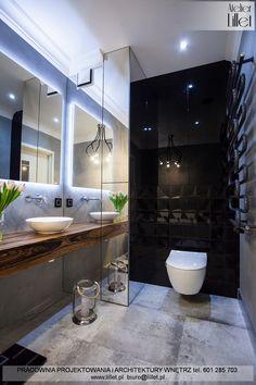 Realizacja łazienki z wanną wolno-stojącą i betonem - Atelier Lillet, Projektowanie wnętrz Szczecin Diy Bathroom Remodel, Bathroom Spa, Bathroom Storage, Modern Bathroom, Bathroom Design Luxury, Bathroom Design Small, Baths Interior, Studio Interior, House Design