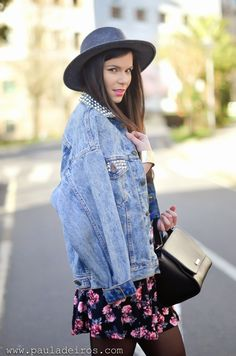 PAULA DEIROS SECRETS: Flowered Skirt & Denim Jacket #kissmylook