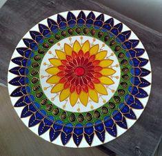 Durga Painting, Dot Painting, Glass Painting Designs, Paint Designs, Mandala Drawing, Mandala Art, Plaster Art, Cd Art, Diy Crafts For Home Decor