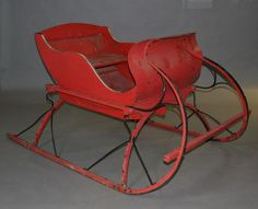 antique santas sale | Sleigh for sale. Side of road.