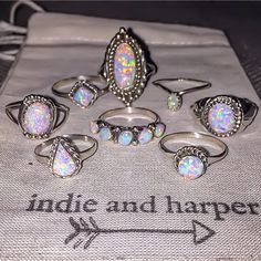 O P A L S || All hand crafted by Zuni Artisans || www.indieandharper.com