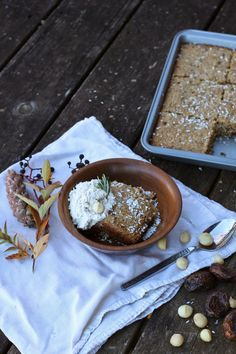 Millet, Date and Tahini Breakfast Bake