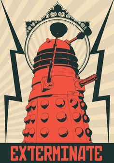 Dr Who Dalek Art Print