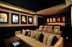 Love this theater room^__^color and layout. My fave!#theater room#media room#dream home