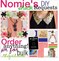 """NOMiE'S DiY SHACK iS UP & RUNNiNG!(: COMMENT YOUR REQUESTS(:"" by nomiesdiyshack ❤ liked on Polyvore"