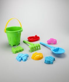 Take a look at this Green Sand Barrel Set by Brooklyn Lollipop on #zulily today! $7.99, regular 12.00