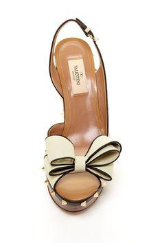 Valentino Bow Wood Heel Pump