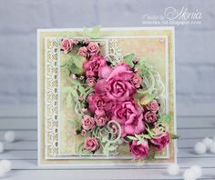 Wild Orchid Crafts: With roses Vintage Calendar, Shabby Chic Cards, Wild Orchid, Art N Craft, Easel Cards, Beautiful Handmade Cards, Marianne Design, Scrapbooking, Heartfelt Creations