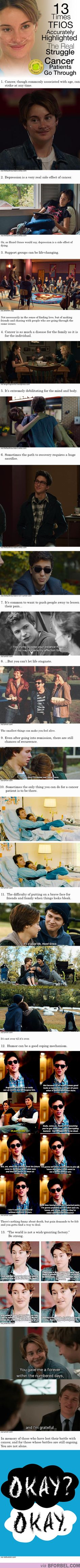 13 Times TFIOS Accurately Highlighted The Real Struggle Cancer Patients Go Through… Stand Up To Cancer!