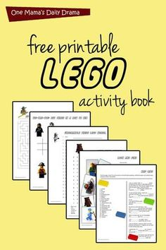 Free printable LEGO activity book with puzzles and games One Mamas Daily Drama Learning Activities, Kids Learning, Activities For Kids, Space Activities, Kids Printable Activities, Road Trip Activities, Outdoor Activities, Legos, Lego Therapy
