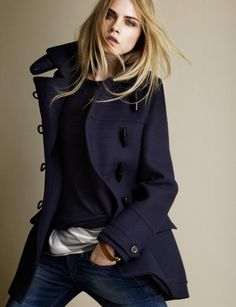 simply beast - fashion - stylish women - burberry coat