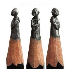 """震えるほど緻密!鉛筆の芯を削って作り上げる""""鉛筆彫刻アート""""が凄すぎる!"""
